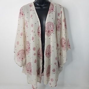 Forever 21 Contemporary Sheer Kimono Top